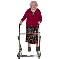 image of older woman undergoing physiotherapy