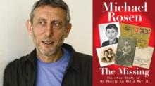 Picture of Michael Rosen and his book, The Missing