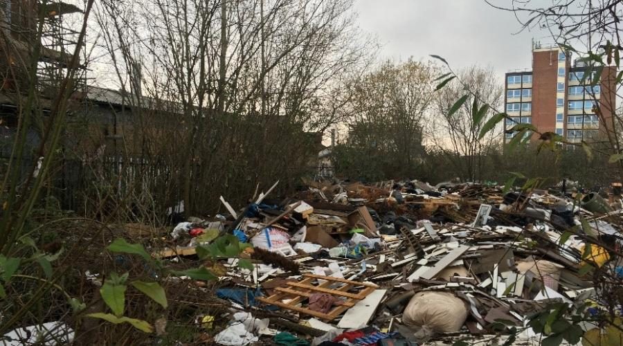 Image of fly-tipped rubbish