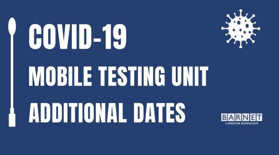 Mobile COVID-19 testing unit dates