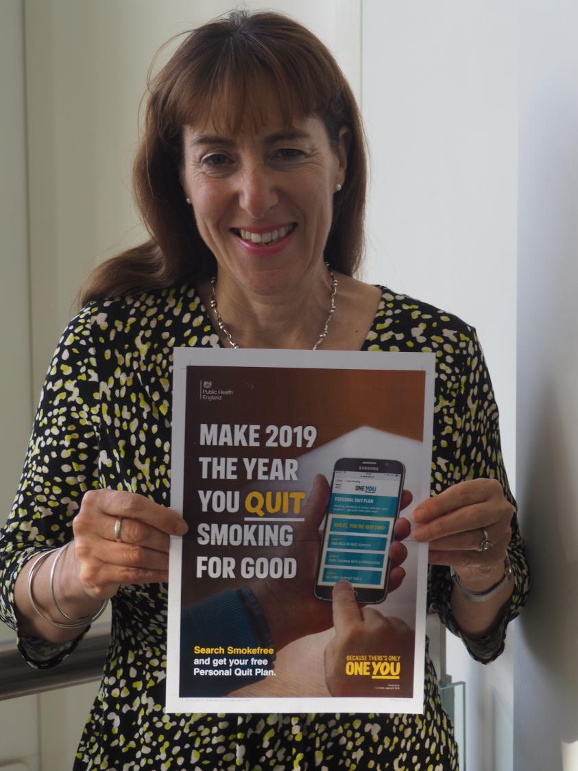 Councillor Caroline Stock, Chairman of Barnet's Health and Wellbeing Board, is urging everyone who smokes to kick the habit.