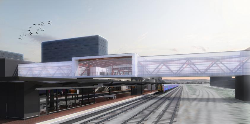 The new Brent Cross West Thameslink station