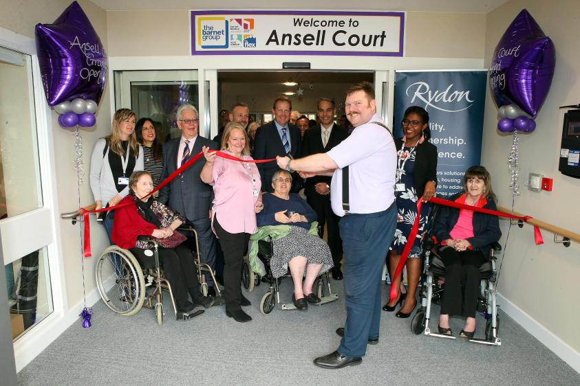 The Worshipful Mayor of Barnet, Councillor Reuben Thompstone, opens Ansell Court
