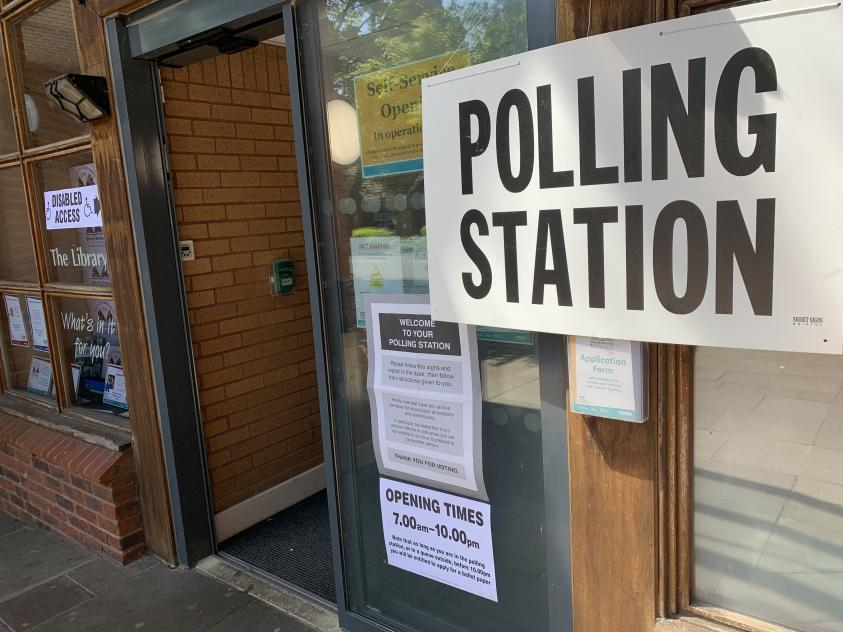 Now closed: Barnet polling station