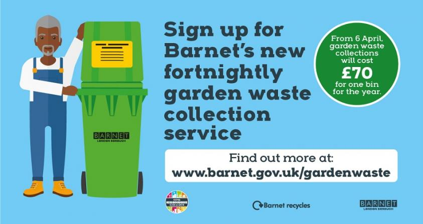 Sign up for Barnet's new fortnightly garden waste collection service