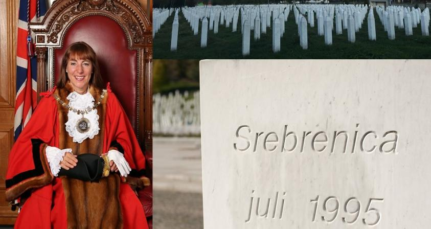 The Worshipful Mayor of Barnet, Councillor Caroline Stock, remembers the 25th anniversary of the Srebrenica genocide