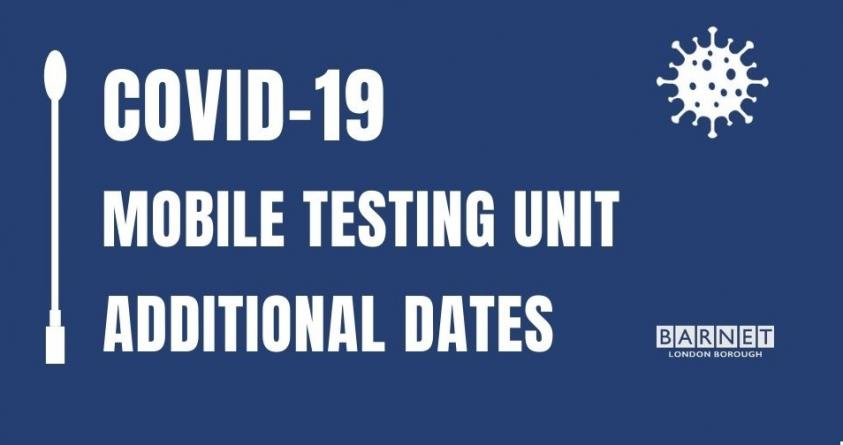 COVID-19 mobile testing unit: Additional dates